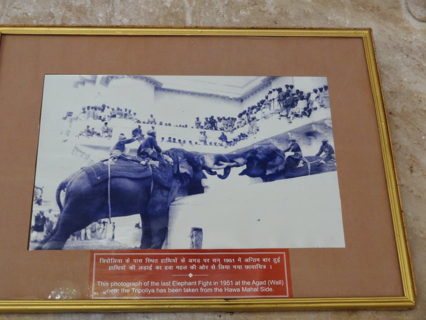City Palace Udaipur (Elephant Fights Painting)
