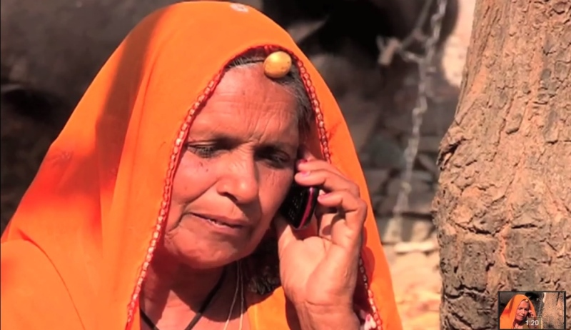 Rural Woman Talking on Mobile