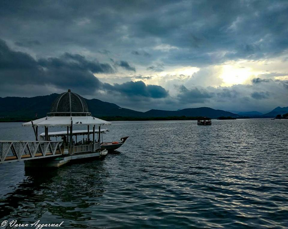 Pichola Lake in Monsoon