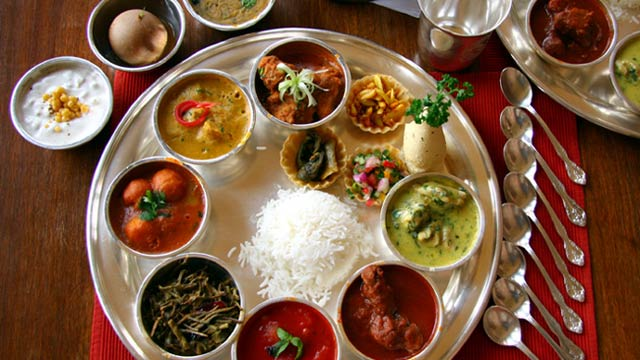 Traditional Rajashthani Thali (Food)