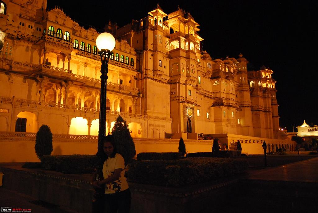 City Palace Udaipur at Night