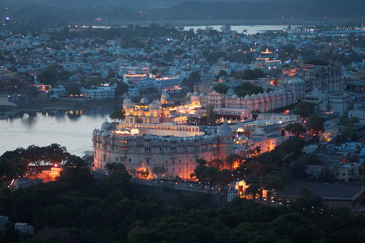 City Palace Udaipur Night View