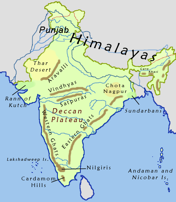 aravalli range in india map