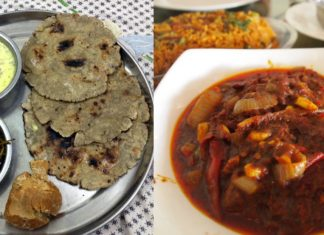 bajre ki roti and laal maas