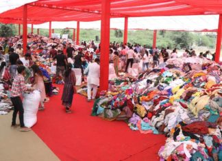 Donation of 3 lakh Clothing Items