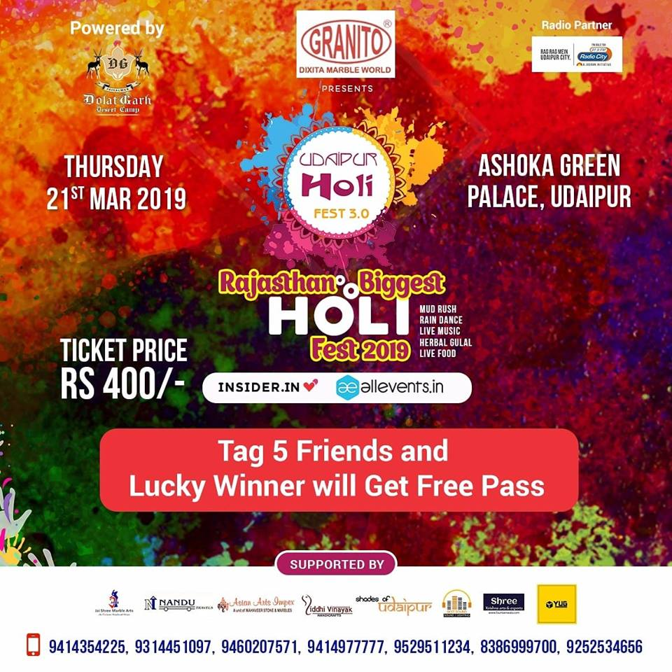 Top Holi Events in Udaipur 2019 03